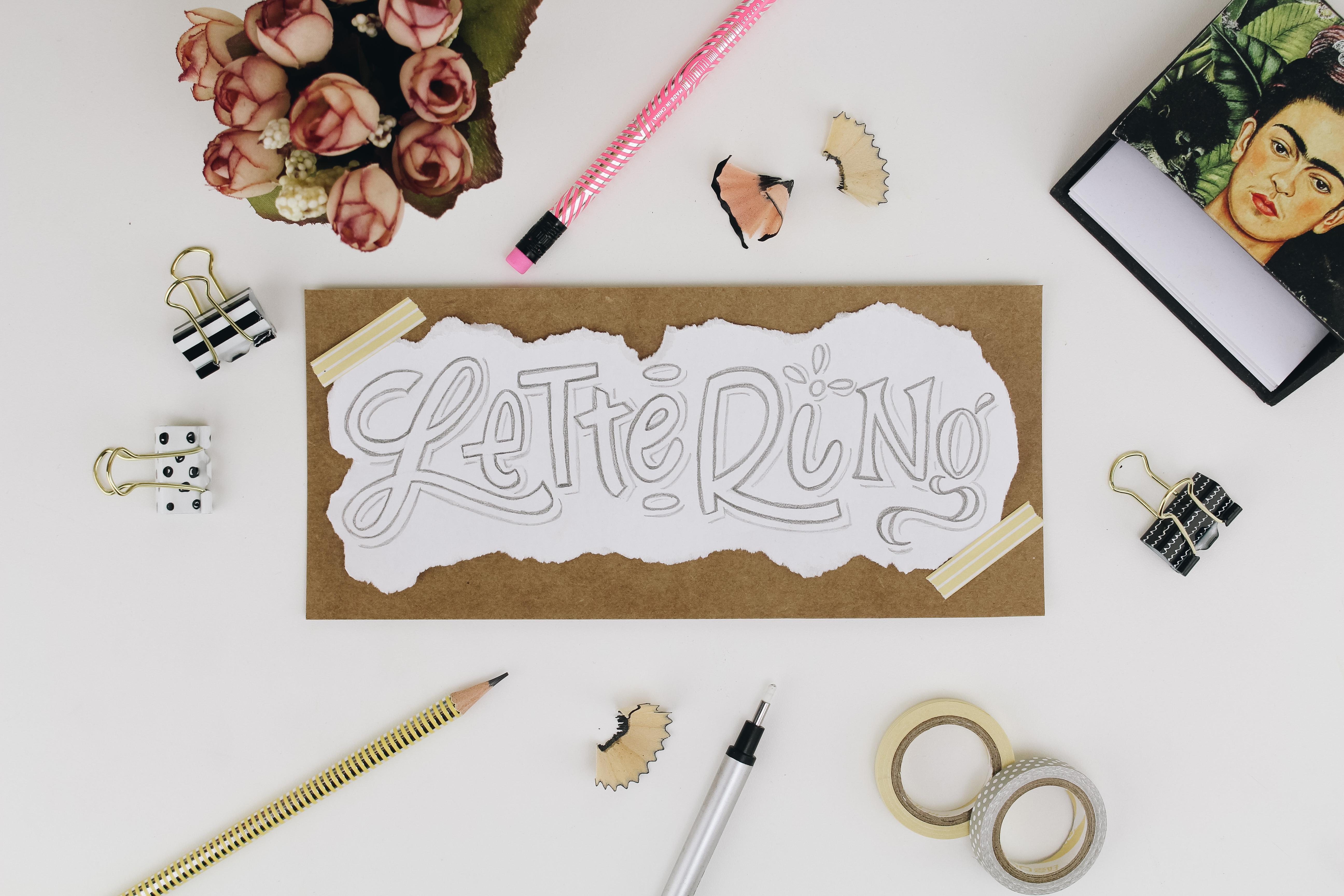 Lettering com grafite