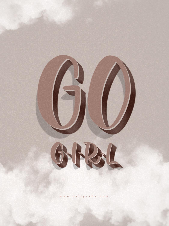 Go Girl Wallpaper by Caligrafiz iPad
