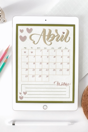 HeartMe | Planner de Abril